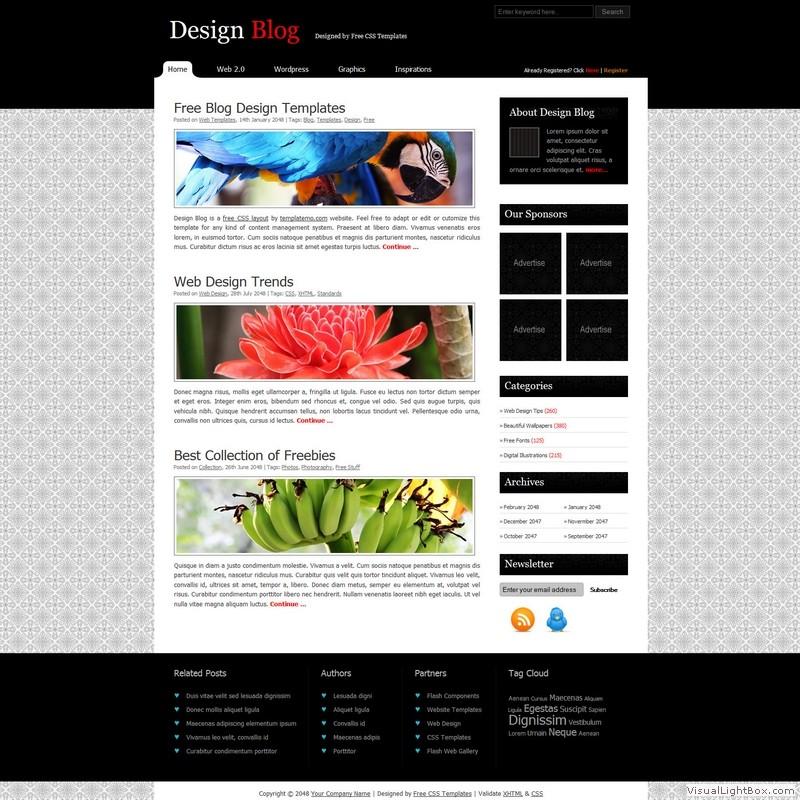 Бесплатные HTML и CSS шаблоны сайтов различных категорий бизнес, блоги. .